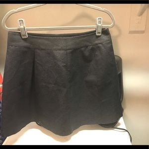 A-line black banana republic mini skirt